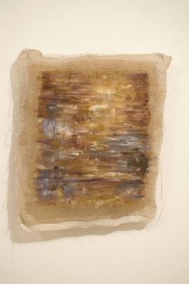 Senza Titolo 2018, olio su tela grezza