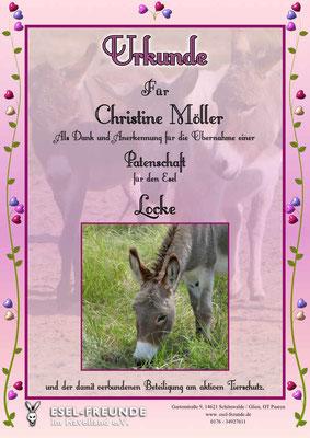 Patenschaftsurkunde - Rosa - Eselfreunde im Havelland e. V., Brandenburg - Eselwandern, Eselkurs