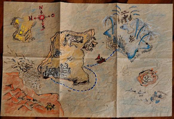 Landkarte - Reise zum Fürst des Vergessens