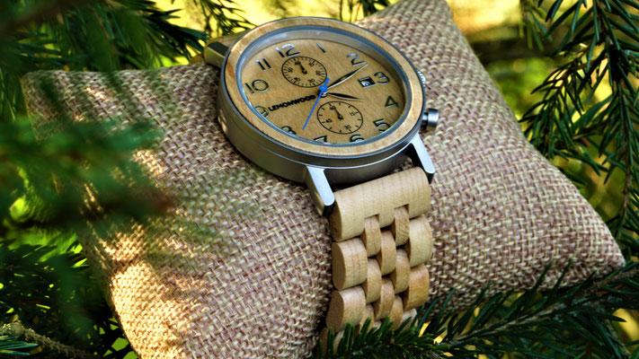 Armbanduhr aus Ahorn-Holz Savannah