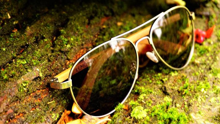 Sonnenbrille aus Buchen-Holz Pilot Beech