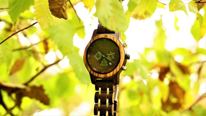 Armbanduhr aus Ebenholz Bangkok