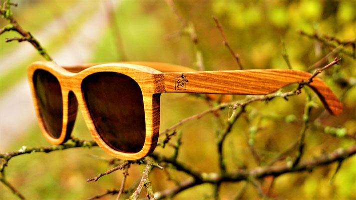 Sonnebrille Zebrano Frame aus zebranoholz