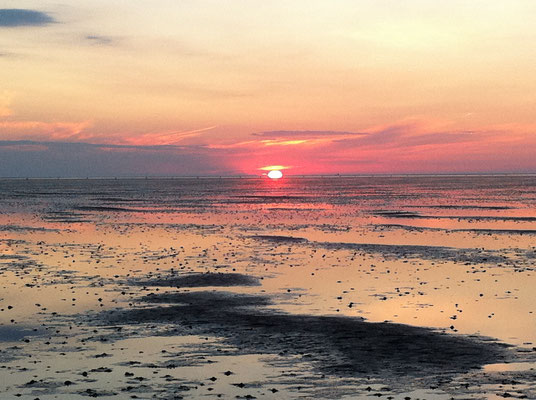 Watt zum Sonnenuntergang