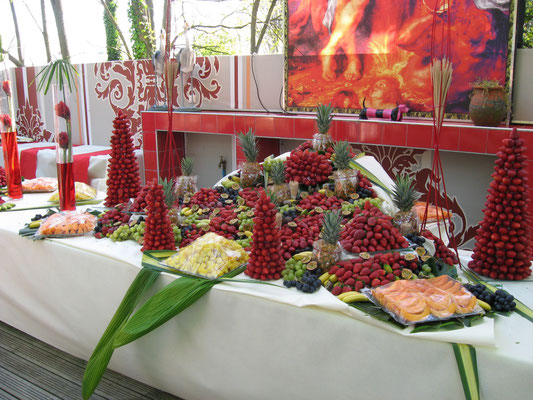 Buffet de fruits le Mas Rouge