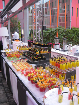 Buffet de fruits sur glace hôtel Radisson Blu Toulouse