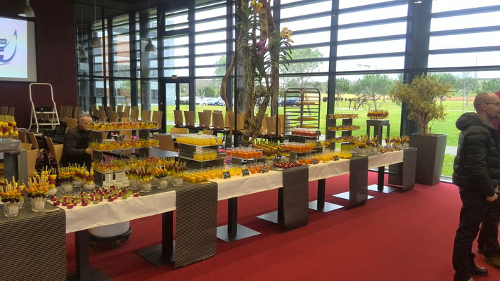 Jus de fruits, verrines, et brochettes de fruits pour Stelia Aérospace Toulouse