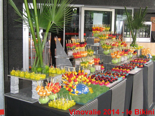 Buffet de fruits pour Vinovalie