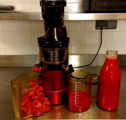 Jus de tomates (extracteur horizontal)