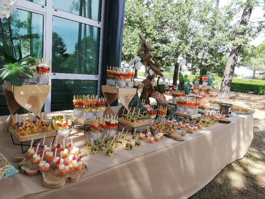 Buffet de fruits Château Mouton Rothschild Bordeaux.
