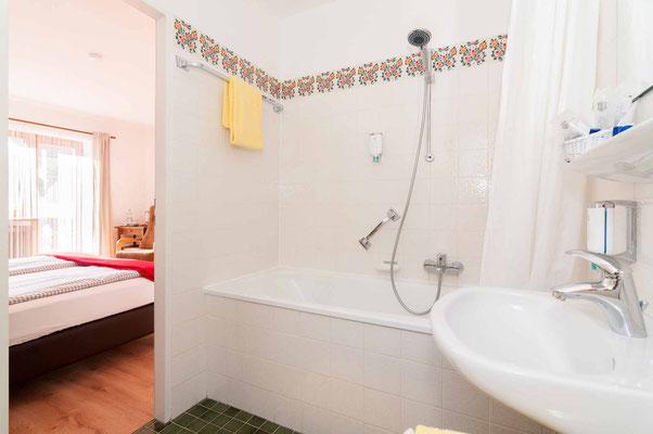 Badezimmer im Hotel Garni Effland in Bayrischzell