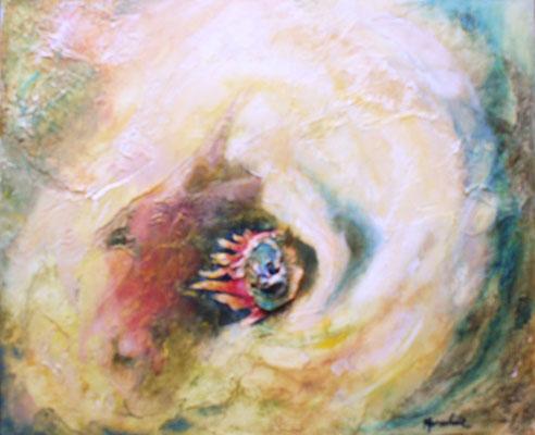 """Komet"", Öl-Spachtel a. Leinwand, 60 x 50, Kat.Nr. 11340"