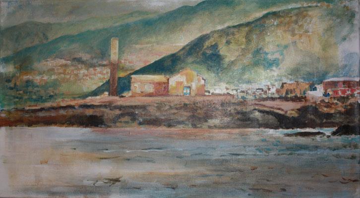 """Zuckerfabrik L.S"", Acryl a. Leinw., 90 x 50, Kat.-Nr. 09292"
