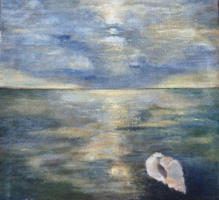 """Muscheln in meiner Hand  II"",  Acryl a. Leinw., 70 x 70, Kat.-Nr. 10322"