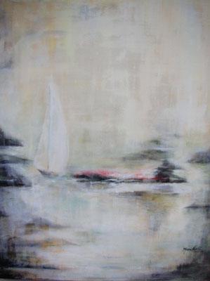 """Landfall II"", Acryl a. Leinw., 75 x 60, Kat.-Nr. 06246"