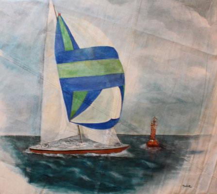 """""""Blauer Spisegler an Tonne 24"""", IMG_0092, 90 x 100"""