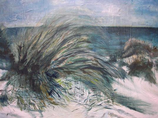 """Strandhafer"", Acryl a. Leinw., 90 x 75, Kat.-Nr. 15493"