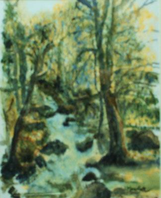 """""""Bachlauf"""", Acryl a. Papier, 59 x 42, Kat.-Nr. 10329"""