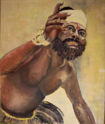 """Indonesier"", Öl a. Leinw., 50 x 60, Kat.-Nr. 00079A"