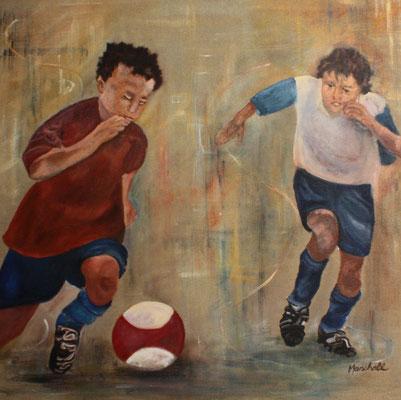 """""""Junge Talente"""", Acryl a. Leinw., 80 x 80,  Kat.-Nr. 07253"""
