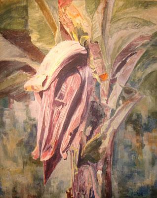 """""""Bananenblüte"""" Acryl a. Leinwand, 60 x 75, Kat.-Nr. 000153"""
