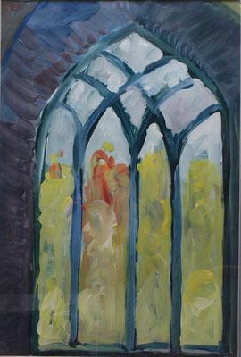"""""""Irisches Klosterfenster"""", Acryl a. Papier,, 60 x 80, Kat.-Nr. 00090 A"""