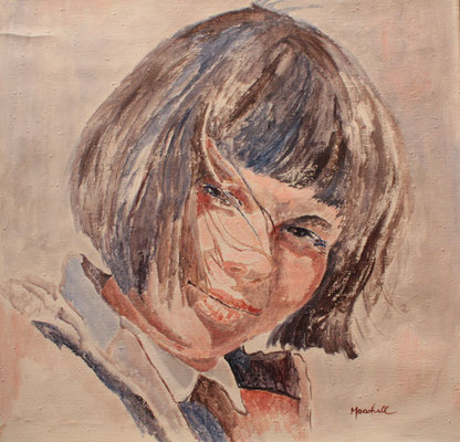 """Swantje"", Acryl a. Leinw., 70 x 70, Kat.Nr. 10307"