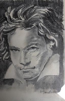 """""""Beethoven"""", Graphit a. Papier,30 x 20, Kat.-Nr. 15498"""