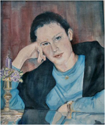 """Nadine"", Öl a. Leinw., 50 x 60,  Kat.-Nr. 00019"