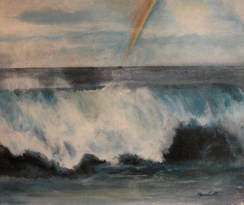 """""""Wetter über dem Atlantik"""", Acryl a. Leinw., 70 x 60, Kat.-Nr. 06421"""