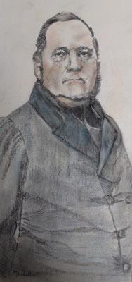 """""""Adalbert Stifter"""", Graphit a. Papier, 40 x 20, Kat.-Nr. 15499"""