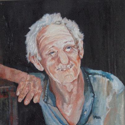 """Glücklicher"", Öl a. Leinw.. 70 x 70, Kat.Nr. 00157"