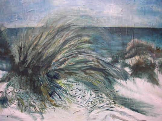 """""""Dünengras"""", Öl a. Holz, 80 x 72,  Kat.-Nr. 000144"""