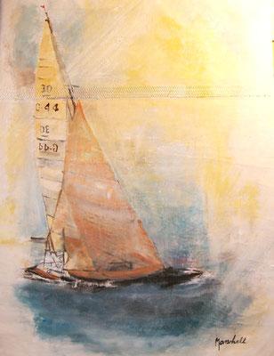 """Segler's Traum III"", Öl auf Segel, 80 x 60, Kat.-Nr. 06234"