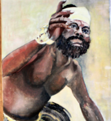"""Magier  Indonesier"", Öl a. Leinw., 50 x 60, Kat.-Nr. 00079"
