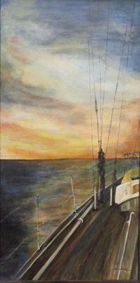 """""""Westwärts II"""", Acryl auf Leinw., 100 x 50, Kat.-Nr. 10315"""