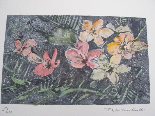 """""""Blumenbeet"""", handcoloriert"""
