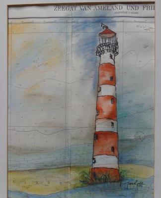 """""""LT Ameland"""",  MT s. Seekarte,50 x 40, Kat.-Nr. 00098"""