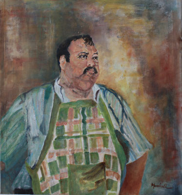 """""""Koch Marcos"""", Acryl a. Tuch, 65 x 60, Kat.Nr. 14462"""