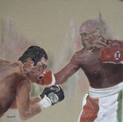 """Boxer"", Acryl a. Leinw., 80 x 80, Kat.-Nr. 07258"