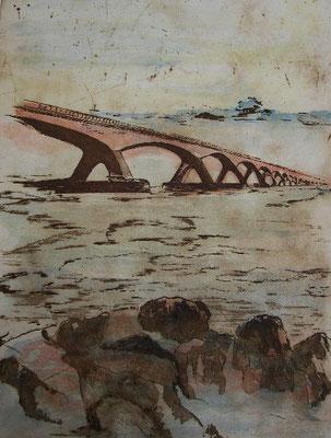 """Brücke n. Schouwen"", coloriert, SANY0172 A"