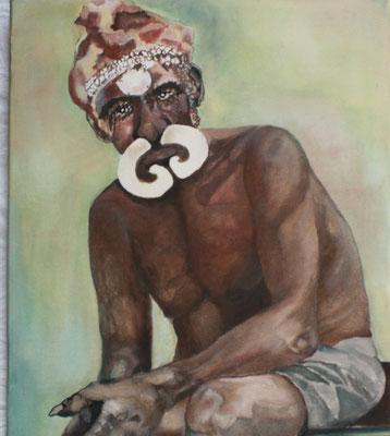"""Medizinmann Indonesien"""", Öl a. Leinw., 50 x 60,  Kat.-Nr. 00079"""