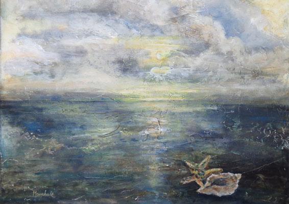 """""""Muscheln in meiner Hand"""",  Acryl auf Leinw.,  60 x 75 ,  Kat.-Nr. 15470"""
