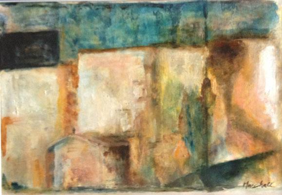 """""""Einsiedlerhütte"""", Öl auf Papier, 29,5 x 42, Kat.-Nr.: 08272"""