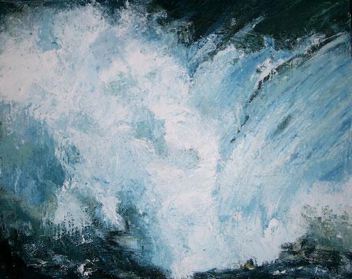 """Meereskraft"", Öl auf Leinwand, 80 x 70, Kat.-Nr. 00130"