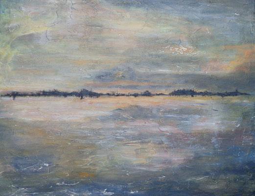 """Land in Sicht"",  Acryl a. Leinw., 60 x 70, Kat.-Nr. 15571"