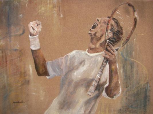 """""""Der Sieger"""", Acryl auf Leinw., 70 x 105, Kat.-Nr. 08266"""