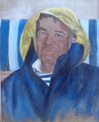 """""""Segler Gabriel"""", Acryl a. Leinw., 40 x 50, Kat.Nr. 08266"""