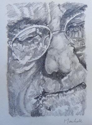 """""""E. Reuter"""", Graphit a. Papier, 30 x 20, Kat.-Nr. 15494"""