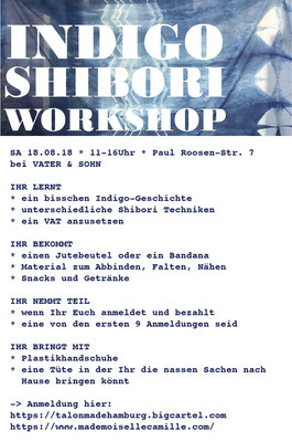 Indigo shibori Workshop Hamburg Vater&Sohn